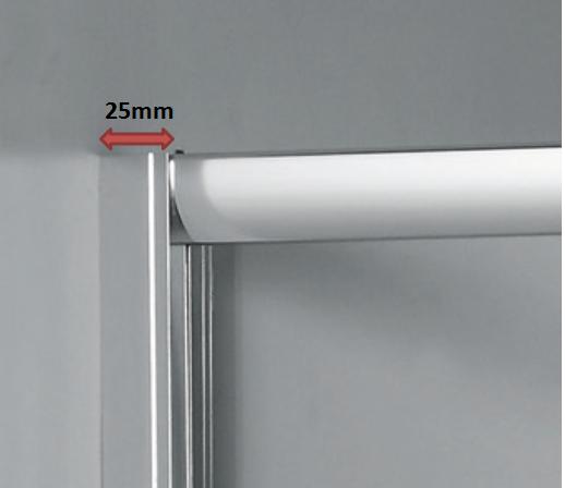 25mm adjustment on shower door wall side